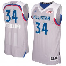 Adidas de Giannis Antetokounmpo hommes gris 2017 NBA All-Star Game est Swingman maillot
