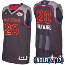 NBA All-Star Western Jazz 20 de 2017 la Nouvelle-Orléans Gordon Hayward noir Jersey