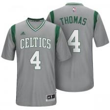 Isaiah Thomas Boston Celtics &4 gris Parquet remplaçant fierté nouvelle Swingman maillot
