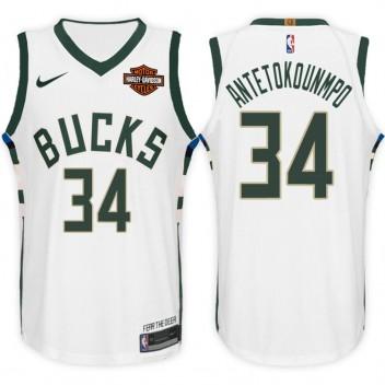 Giannis Antetokounmpo Milwaukee Bucks #34 Association maillot blanc