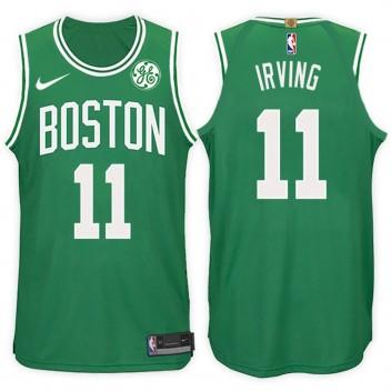 2017-18 saison Kyrie Irving Boston Celtics #11 Icône Vert maillots