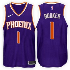 2017-18 saison Devin Booker Phoenix Suns &1 Icon Purple maillots