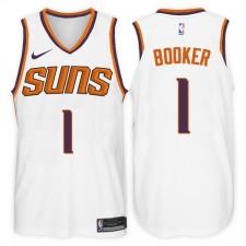 2017-18 saison Devin Booker Phoenix Suns &1 Association maillot blanc