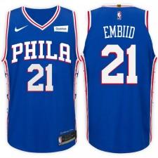 saison Joel Embiid Philadelphia 76ers &21 icon blue maillots