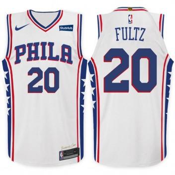 2017-18 saison Markelle Fultz Philadelphia 76ers #20 Association maillot blanc