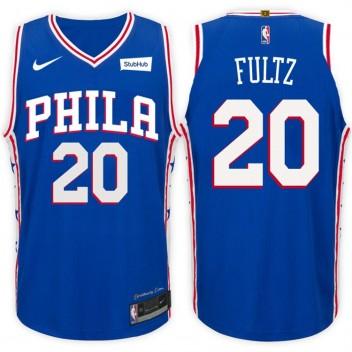 2017-18 saison Markelle Fultz Philadelphia 76ers #20 Icône Bleu maillots