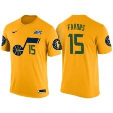 Hommes Derrick favorise Utah Jazz &15 Déclaration Gold Nom & Nombre t-shirt