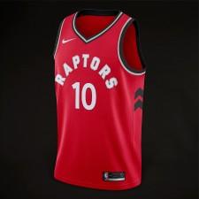 saison DeMar DeRozan Toronto Raptors &10 icône Rouge maillots