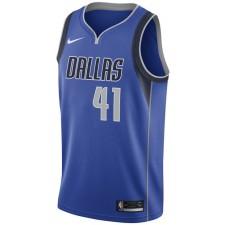 2017-18 Saison Dirk Nowitzki Dallas Mavericks &41 Association maillot Bleu