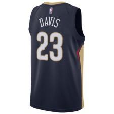 Saison Anthony Davis New Orleans Pelicans &23 icône Bleu Authentique
