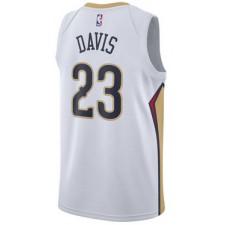 2017-18 Saison Anthony Davis New Orleans Pelicans &23 icône Blanc Authentique