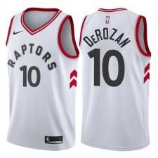Hommes 2017-18 saison DEMAR DeRozan Toronto Raptors &10 Association Blanc Échangiste Maillot