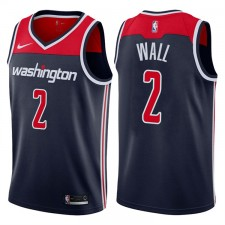 Hommes 2017-18 saison John Wall Washington Wizards &2 Statement chandails échangistes de la marine