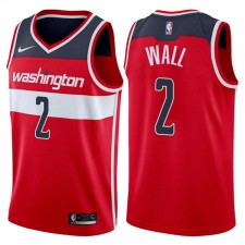 Hommes 2017-18 saison John Wall Washington Wizards &2 Icône Rouge Échangiste maillots