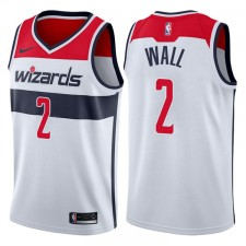 Hommes 2017-18 saison John Wall Washington Wizards &2 Association Blanc Échangiste maillots