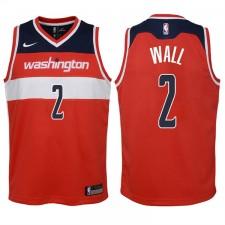 Enfants 2017-18 saison John Wall Washington Wizards &2 Icône Rouge Échangiste maillots