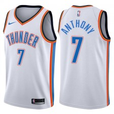 Hommes 2017-18 saison Carmelo Anthony Oklahoma City Thunder &7 Association maillot blanc