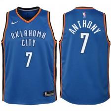 Enfants 2017-18 saison Carmelo Anthony Oklahoma City Thunder &7 Icône Bleu Échangiste maillots