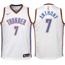 Enfants 2017-18 saison Carmelo Anthony Oklahoma City Thunder &7 Association Blanc Échangiste maillots