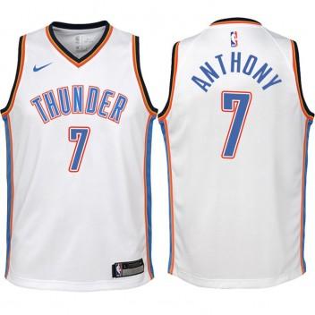 Enfants 2017-18 saison Carmelo Anthony Oklahoma City Thunder #7 Association Blanc Échangiste maillots