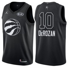 2018 All-Star hommes Raptors DEMAR DeRozan &10 maillot noir
