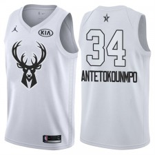 All-Star Hommes Bucks Giannis Antetokounmpo &34 maillot blanc