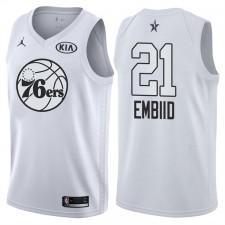 2018 All-Star men's 76ers Joel Embiid &21 maillot blanc