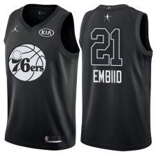 All-Star men's 76ers Joel Embiid &21 maillot noir