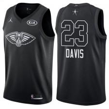 2018 All-Star Hommes Pelicans Anthony Davis &23 maillot noir