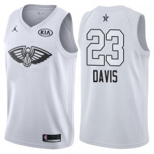 2018 All-Star hommes pélicans Anthony Davis &23 maillot blanc