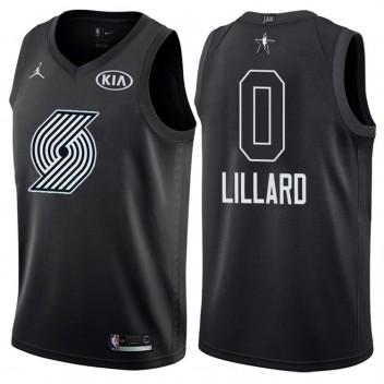 2018 All-Star Hommes blazers Damian Lillard #0 maillot noir