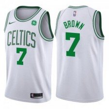 Hommes Jaylen Brown Boston Celtics &7 déclaration GE Blanc Maillot