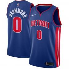 Nike Andre Drummond &0 Detroit Pistons Bleu Échangiste Maillot