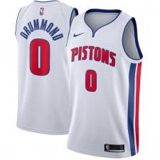 Nike Andre Drummond &0 Detroit Pistons Blanc Échangiste Maillot
