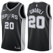 San Antonio Spurs Manu Ginobili Nike NBA Hommes Icône Échangiste Maillot