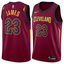 Cleveland Cavaliers LeBron James Nike NBA Hommes Icône Swingman Maillot