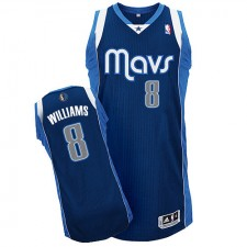 NBA Deron Williams Authentic Men's Navy Blue Jersey - Adidas Dallas Mavericks &8 Alternate