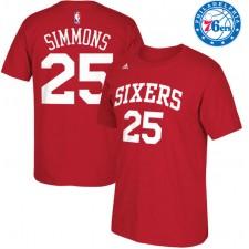 Philadelphia 76ers ^ 25 T-shirt à manches longues Big Net avec nombre net de Simmons