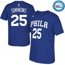 Philadelphia 76ers ^ 25 T-shirt à manches longues avec nombre net, Ben Simmons