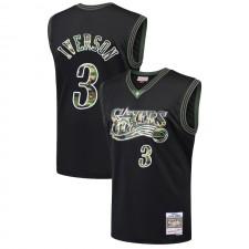Philadelphia 76ers Allen Iverson ^ 3 Droit Camo Black Jersey
