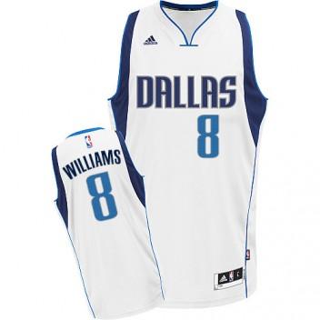 NBA Deron Williams Swingman Hommes Blanc Maillot - Adidas Magasin Dallas Mavericks #8 Home