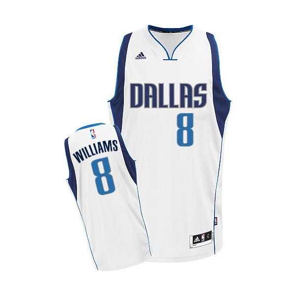 Maillot Deron Williams Adidas Swingman Nba Hommes Blanc