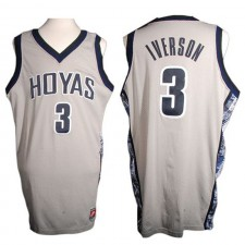 NCAA Hommes Georgetown Hoyas ^ 3 Maillot Alternatif Authentique Gris Allen Iverson