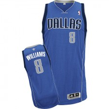 NBA Deron Williams Authentic Men's Royal Blue Jersey - Adidas Dallas Mavericks &8 Road