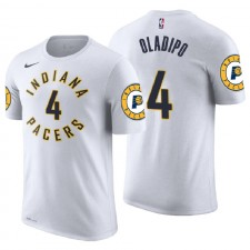 T-shirt maillot avec nom et numéro d'association White Pacgers Indiana ^ 4 Victor Oladipo White Association