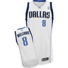 NBA Deron Williams Authentic Men's White Jersey - Adidas Dallas Mavericks &8 Home