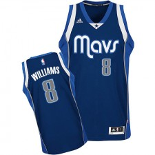 NBA Deron Williams Swingman Men's Navy Blue Jersey - Adidas Dallas Mavericks &8 Alternate