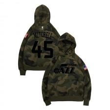 Utah Jazz Donovan Mitchell ^ 45 Salut au service Camo Hoodie