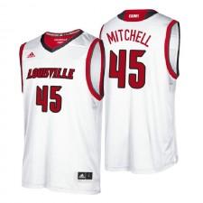 NCAA Louisville Cardinals ^ 45 Donovan Mitchell White Maillot de basketball de performance universitaire authentique