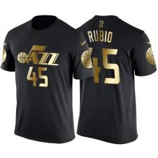 T-shirt maillot avec nom et numéro en or Donovan Mitchell Gold pour Utah Jazz ^ 45